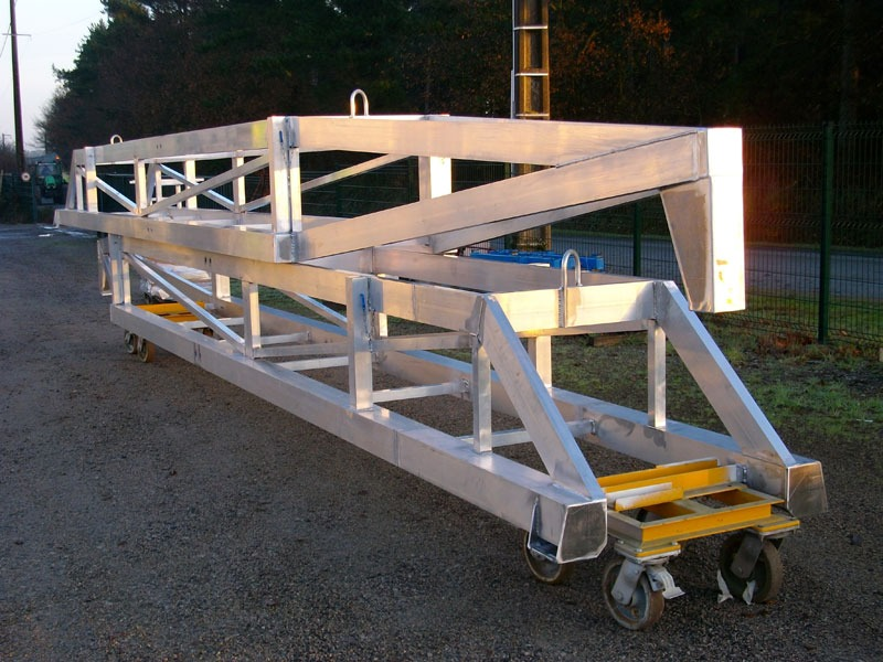 chassis gabarit alu pose cloison
