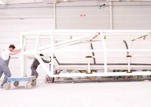 chassis metallique de moule bateau avec parties amovibles industrie