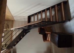 escalier 1/4 tournant garde-corps métal brut sur-mesure style industriel loft Vendée