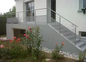 garde corps escalier palier exterieur en Vendée