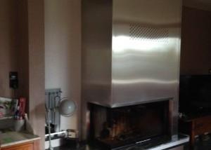 Hotte de cheminée en inox brossé sur-mesure
