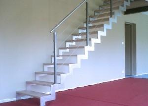 sur mesure escalier et garde corp en métal acier en vendee