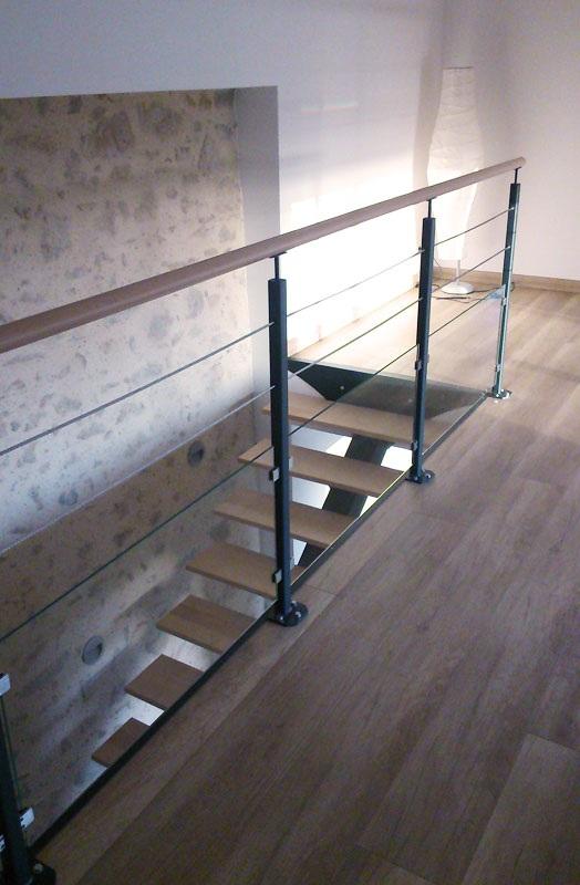 Extrem Escalier métal & garde-corps mezzanine - Mecametal AL56