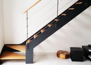 escalier droit metal double limon en Vendée, Maine et Loire et Loire Atlantique