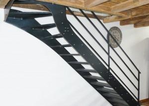 Vendee escalier style loft brut metal