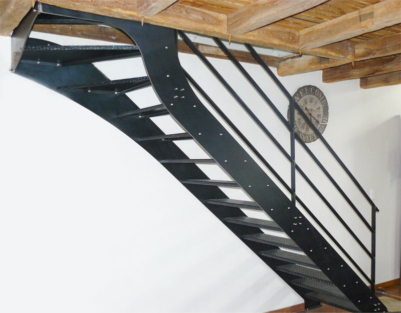 Escalier style Loft en métal - Mecametal