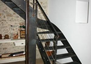escalier double limon sylte indus brut vendée Loire atlantique