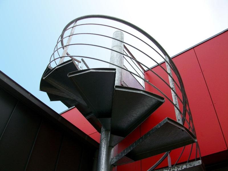 escalier helicoidale métal galvanisé exterieur Vendée
