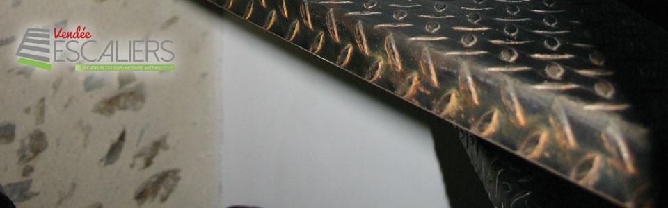 escalier métal sylte indus brut vendée Loire atlantique