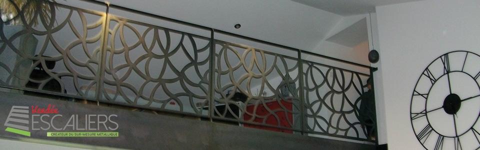 garde corps métal sur mesure vendee escaliers