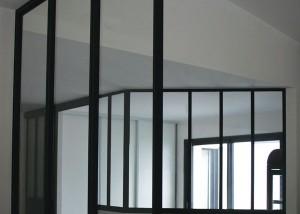 verriere métal sur mesure intérieur loft bureau cuisine vendée