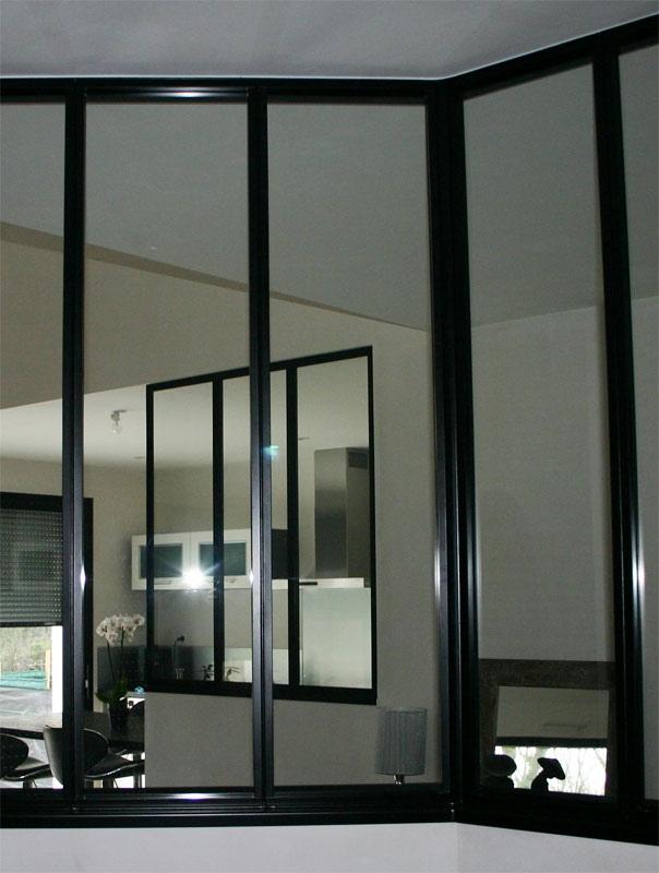 Verri re m tal bureau et cuisine mecametal for Verriere metal et verre