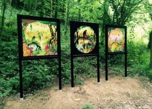 Panneaux métallique exposition culturelle