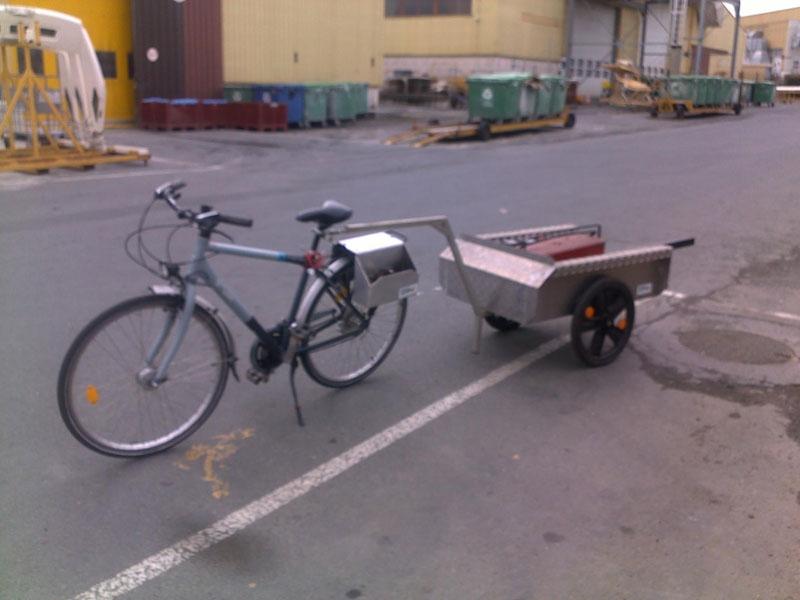 Remorque de vélo sur-mesure
