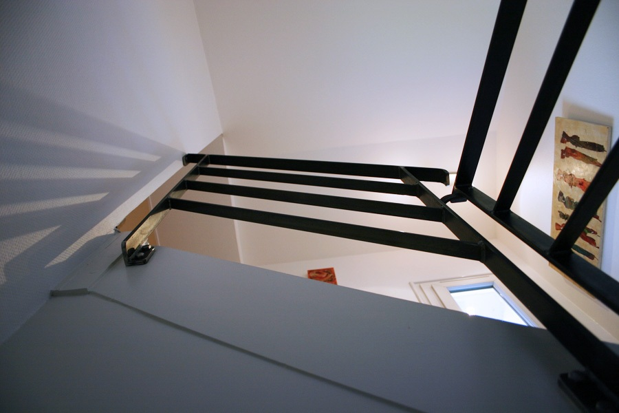 garde-corps métal rambarde escaliers rampe sur-mesure vendee