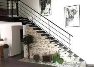 Escalier metal et bois tendance en vendee