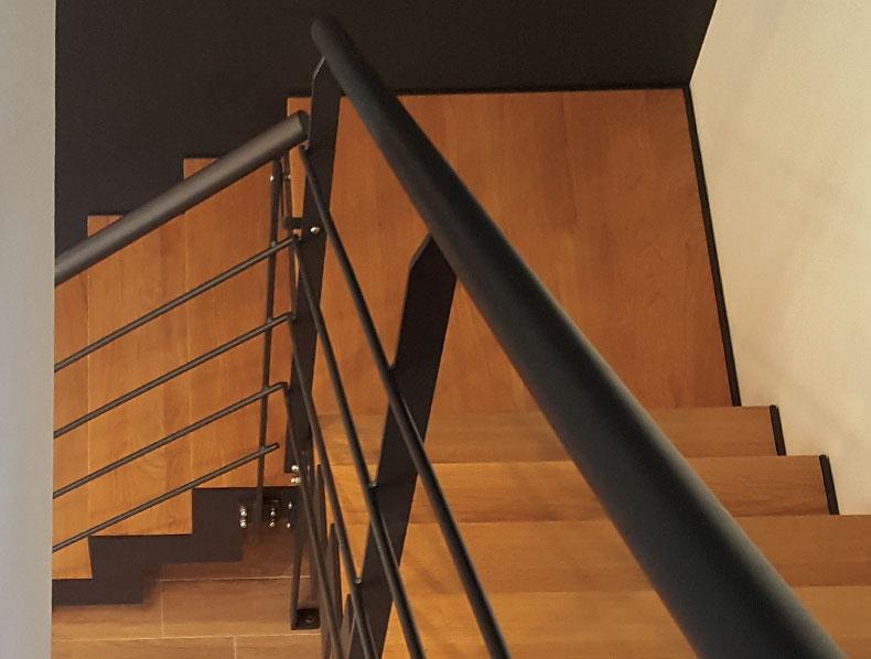 escalier métal et bois sur-mesure en Vendée