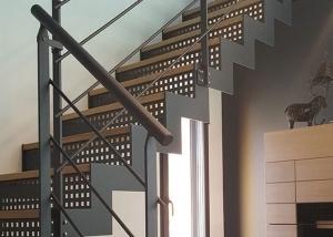escalier metal bois sur-mesure en vendée