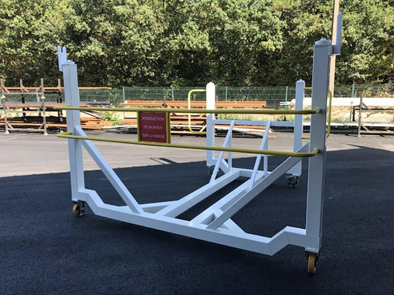 châssis acier - Chariot de transport pour pièce d'avion - industrie aéronautique