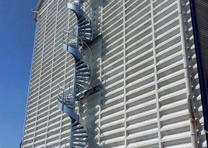 escalier hélicoïdal galvanisé 20m